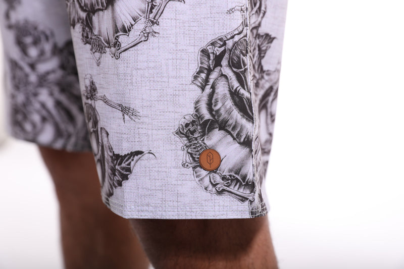 All Day Rose Skull Short