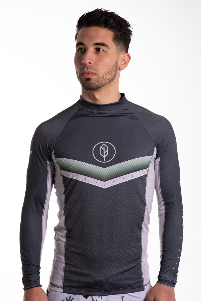 Chevron Long Sleeve Rash Guard - Pena Life