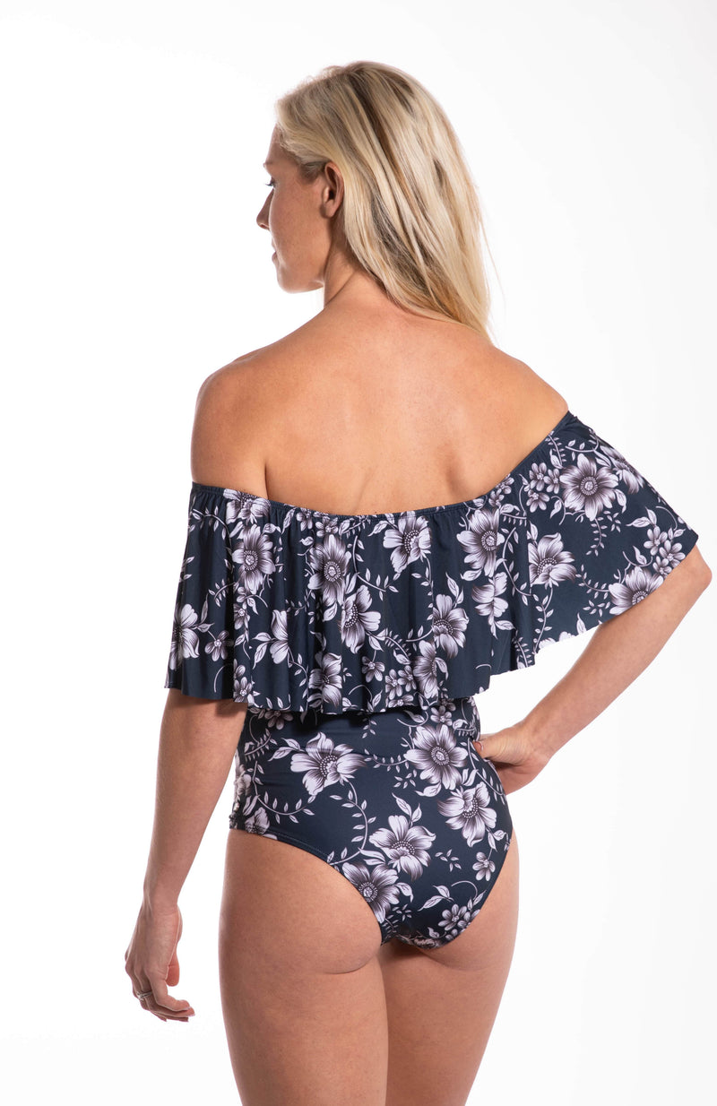 Infinity Ruffle Tropical One Piece