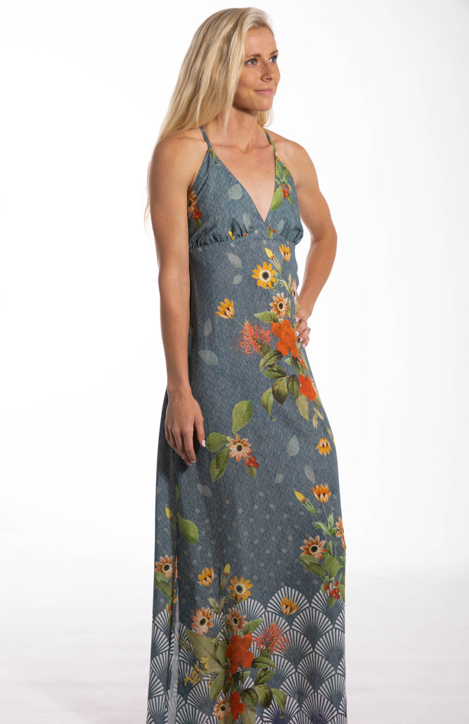 Garden Cross Tie Maxi Dress