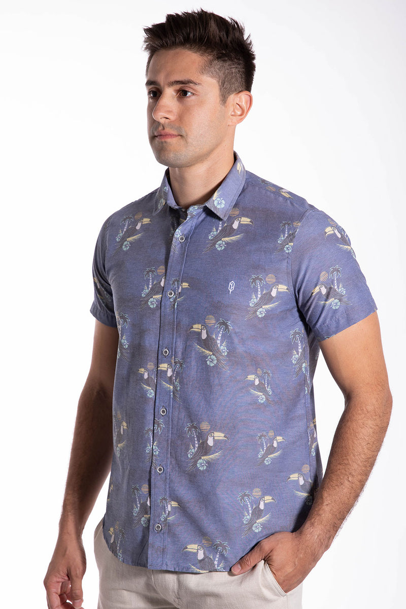 Nature Bird Button Down Shirt