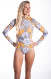 Halter Deep Neck Floral One Piece