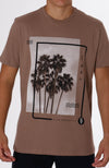Leaf Block V Neck Tee