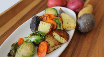 Easy Roasted Vegetables with Honey for Good and Balsamic Syrup