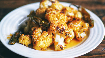 Honey Serrano Roasted Cauliflower