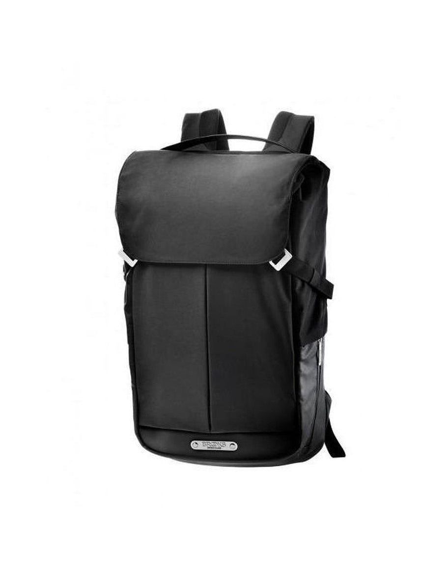 bd12926cf3 BROOKS PITFIELD NYLON TECHNICAL FLAP TOP BACKPACK BLACK