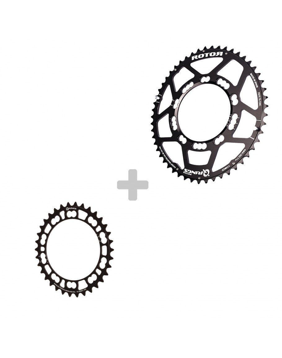 Black Rotor QRings BCD110x5 53T Aluminum Road Chainring