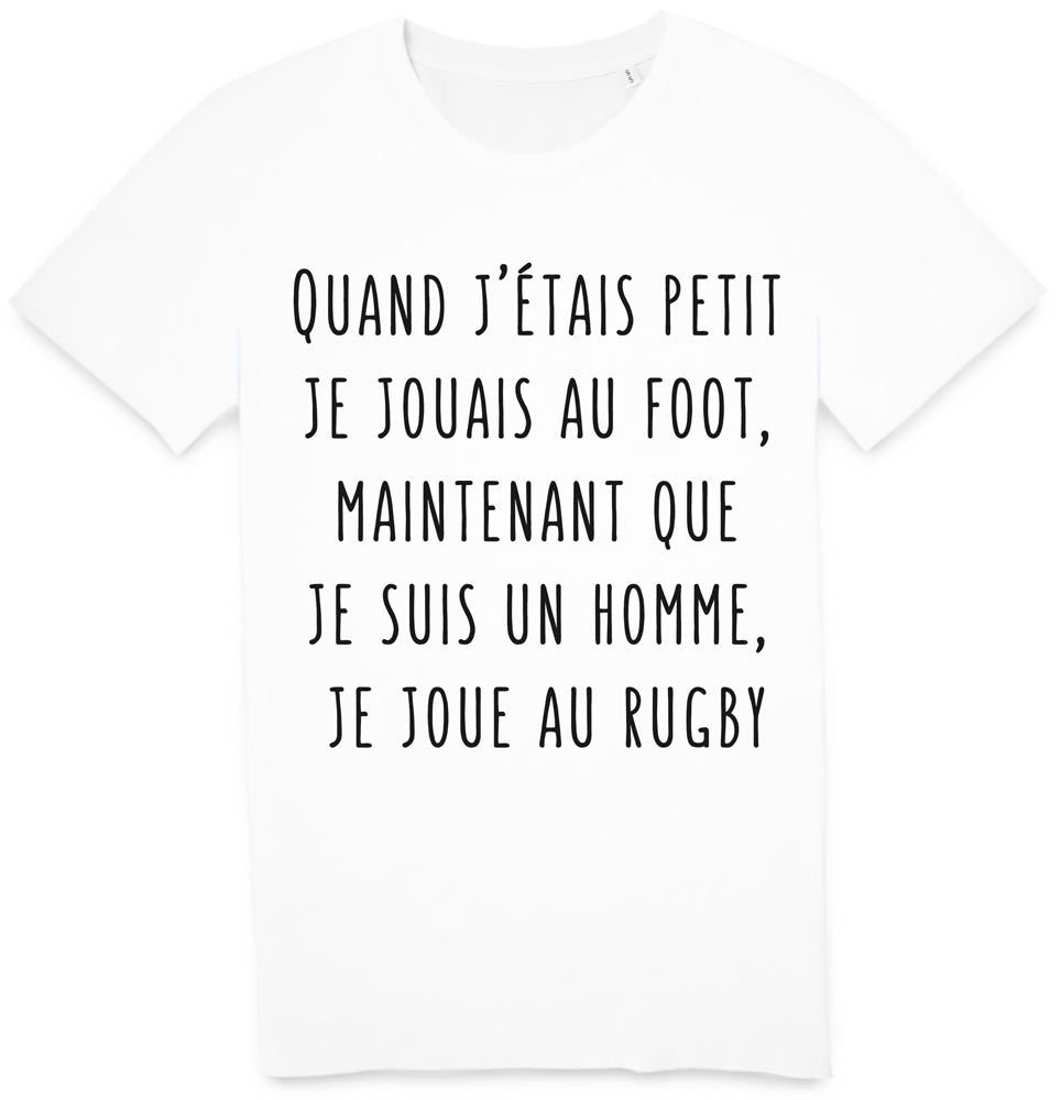 Tshirt Petit foot homme rugby