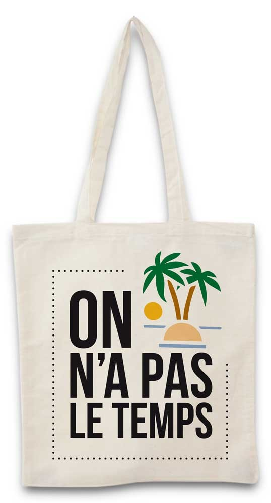 Tote bag Pas le temps