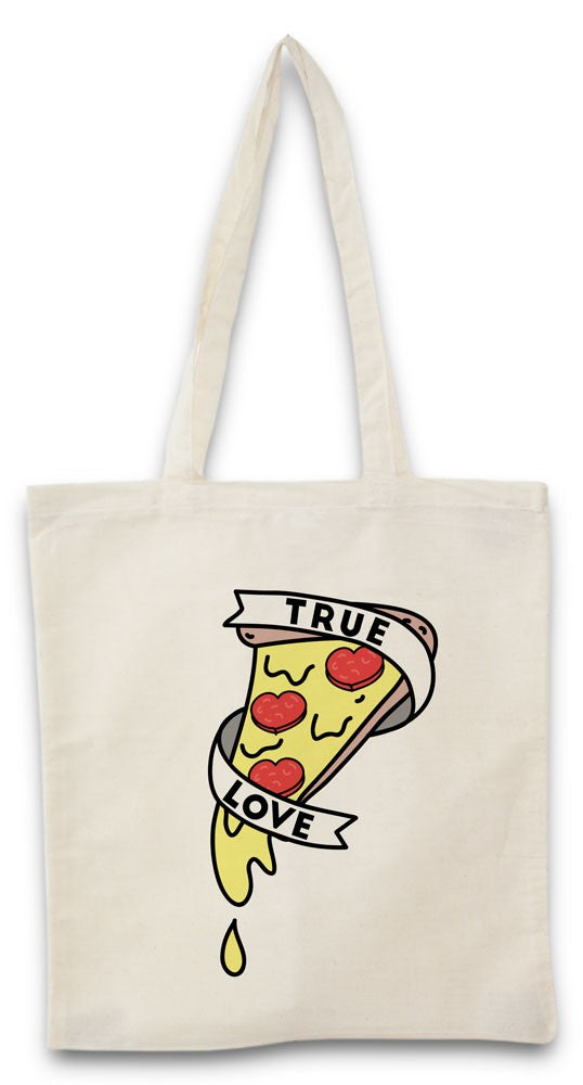 Tote bag true love pizza