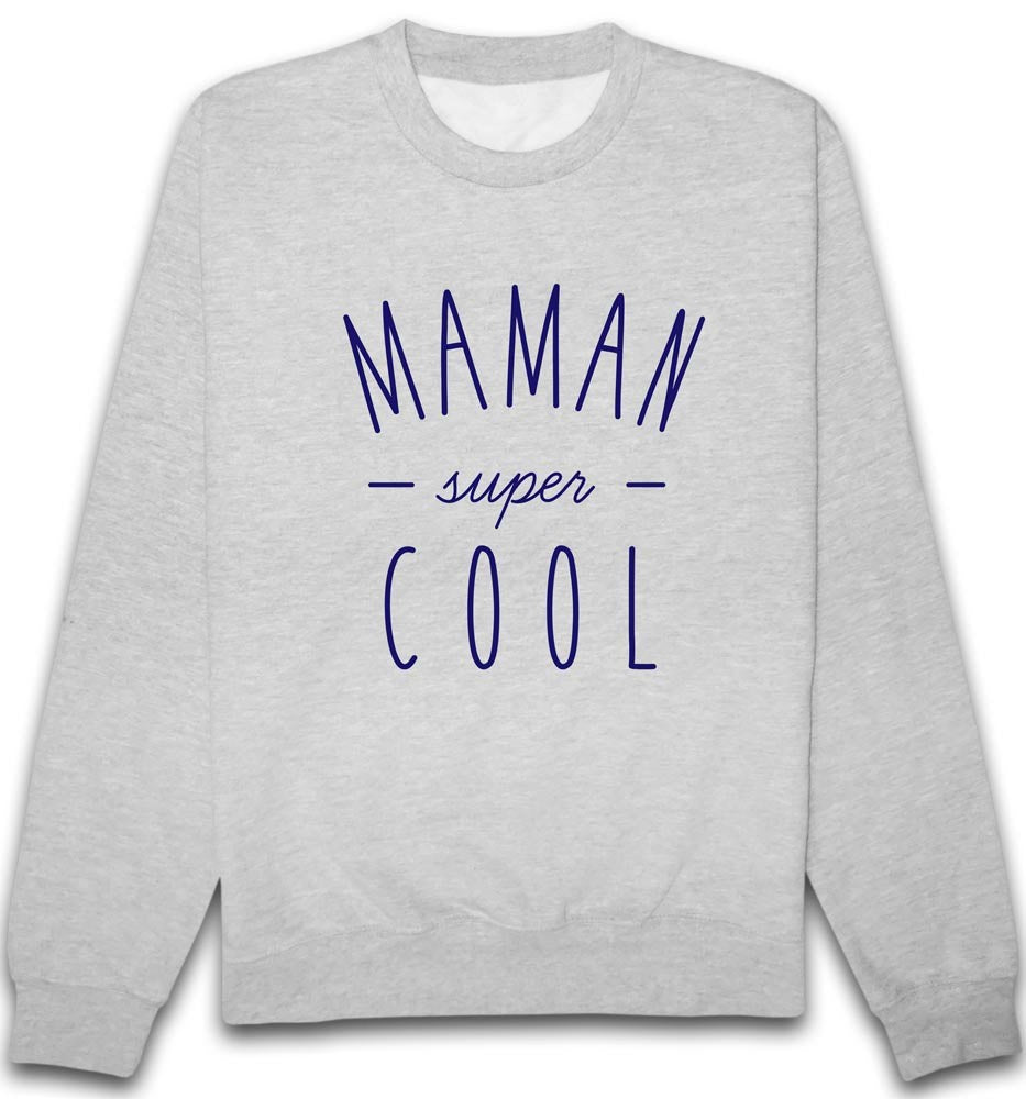 Sweat Maman Super Bleu