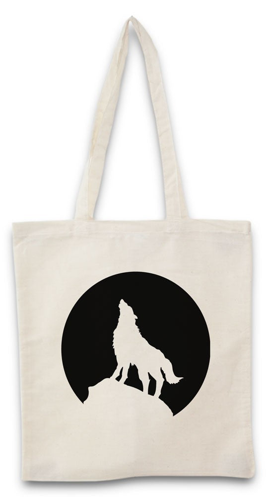 Tote bag loup lune