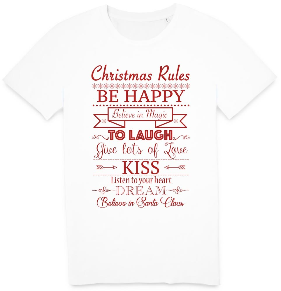 Tshirt merry christmas red