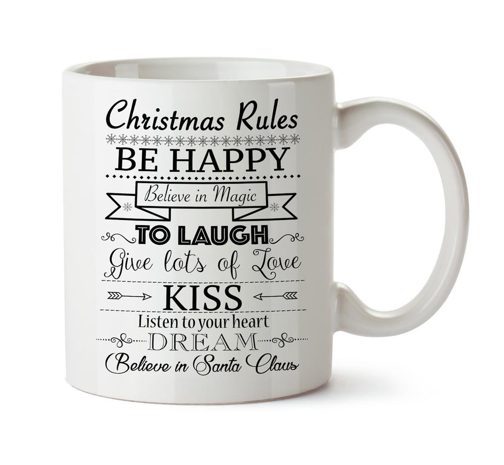 Mug chritsmas rules black