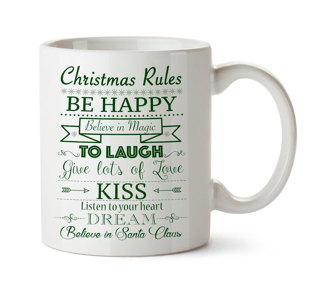 Mug christmas rules green