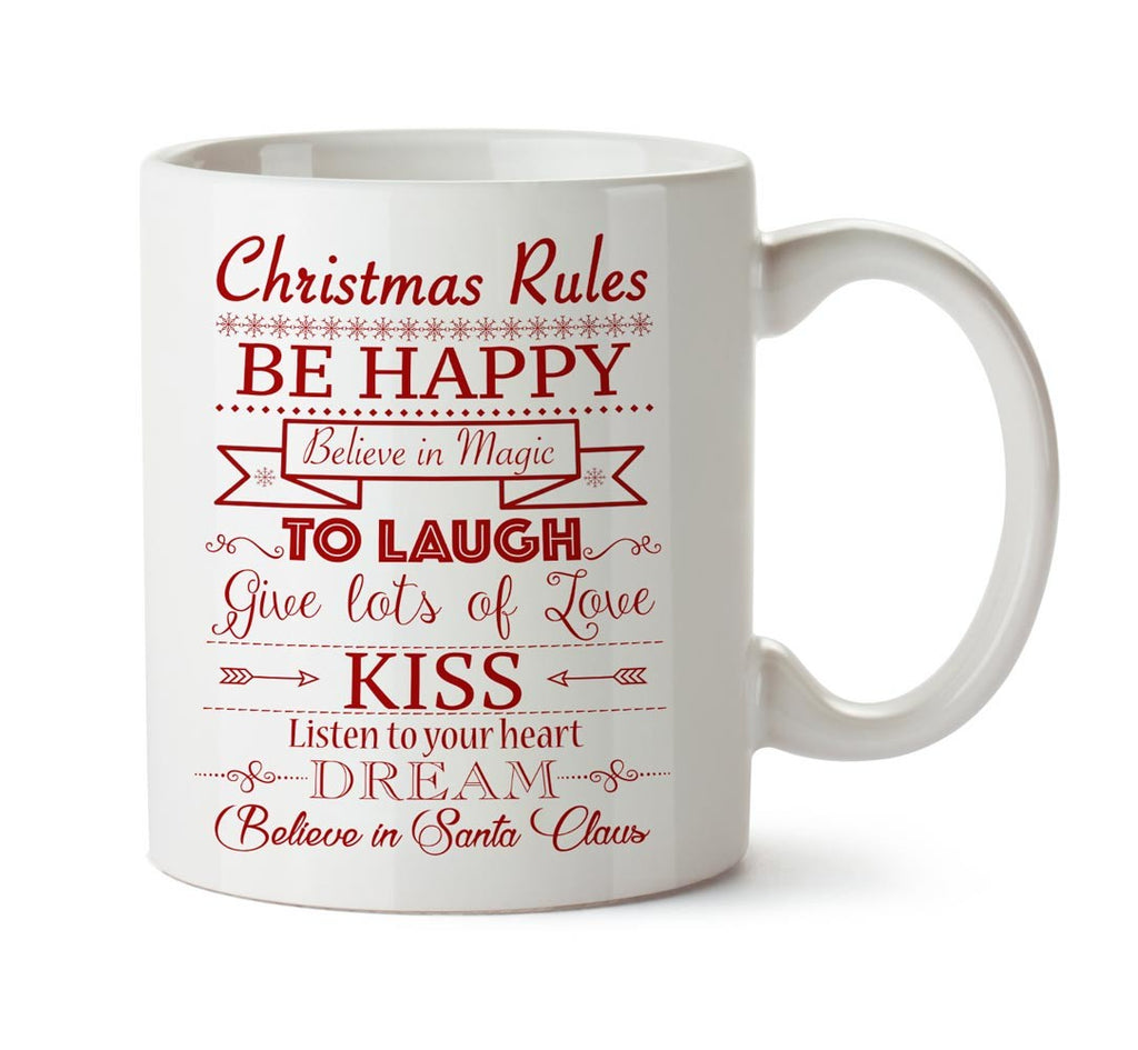 Mug christmas rules red