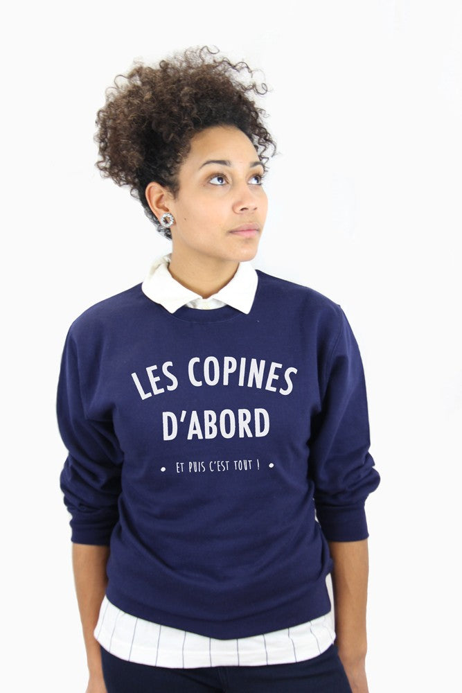 Sweat Les copines d'abord (navy)