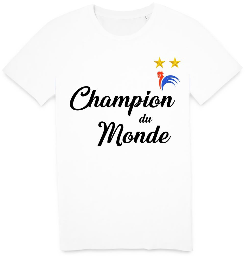 Tshirt champion du monde France