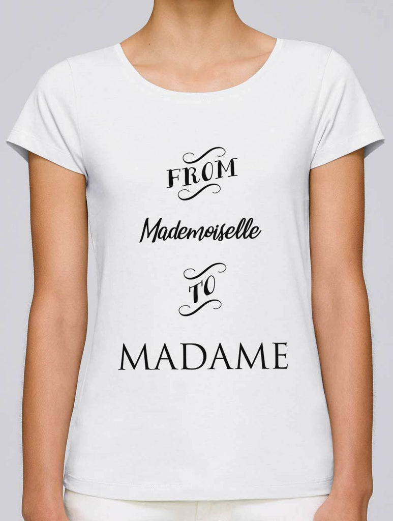 t shirt evjf from mademoiselle to madame