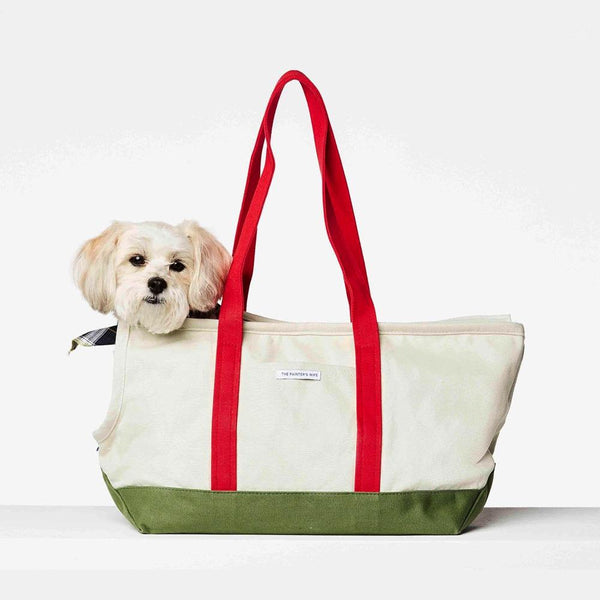 Dog Carrier Bag The Painter's Wife S Green & Red