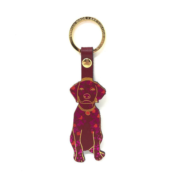 Dog Key Chain Ark Colour Design Red