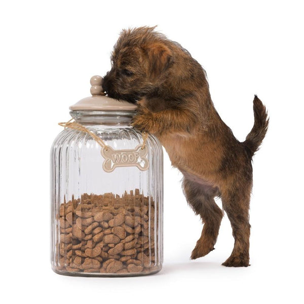Glass Treat Jar House of Paws Mink