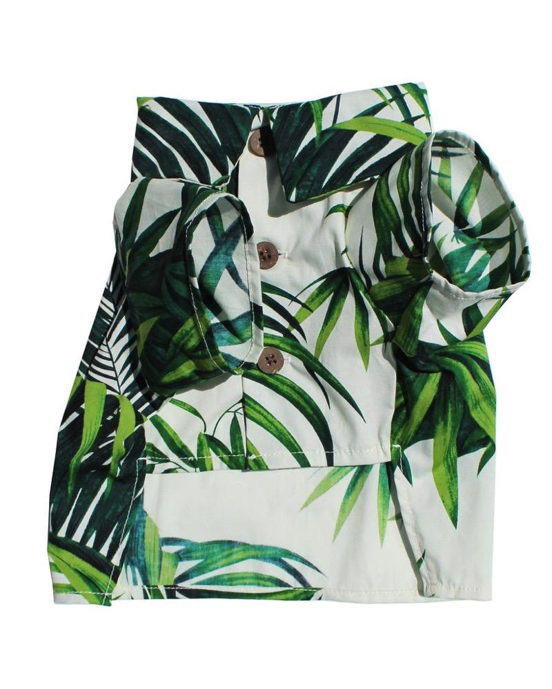 Havana Palms Shirt Dog Threads