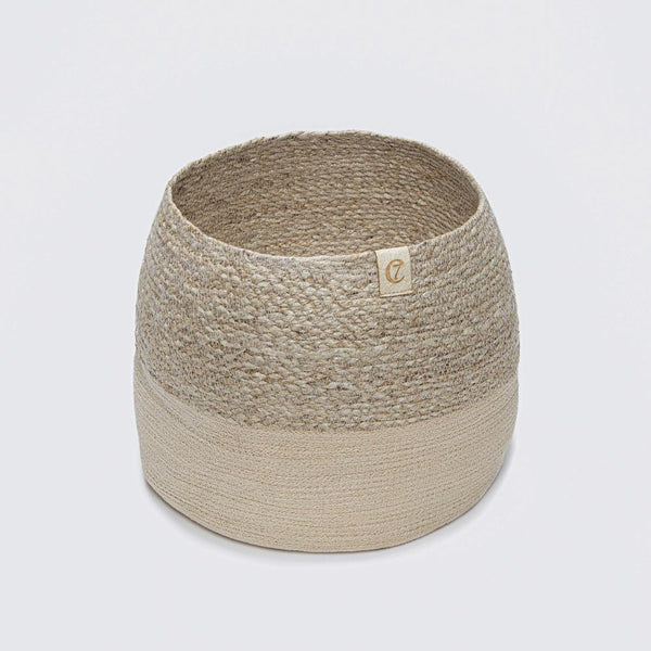 Storage Basket Natural Jute Cloud7