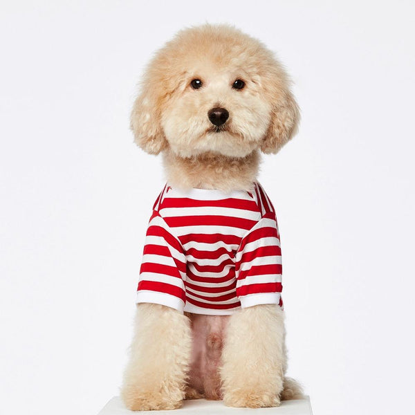 Striped T-shirt The Painter's Wife S Red