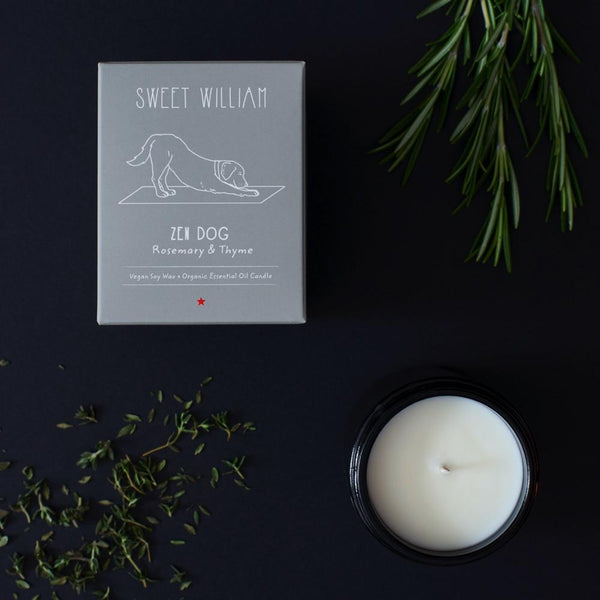 Zen Dog Candle Sweet William
