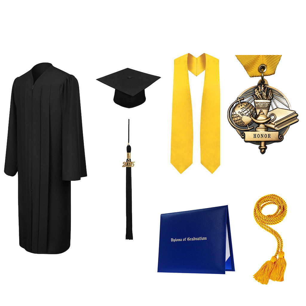 Matte High School Deluxe Graduation Package - All colors available