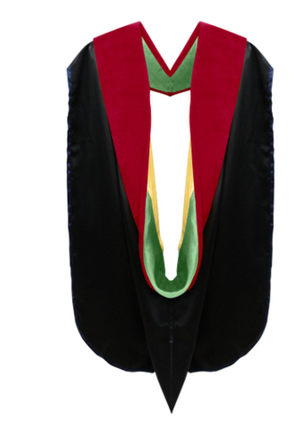 IN-STOCK GRADUATION DOCTORAL HOOD - SCARLET VELVET