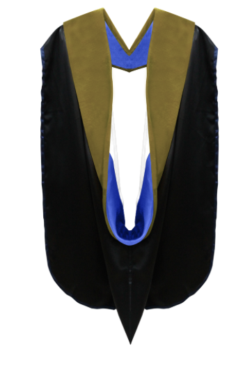 IN-STOCK GRADUATION DOCTORAL HOOD - SAGE GREEN VELVET - Graduation Cap and Gown