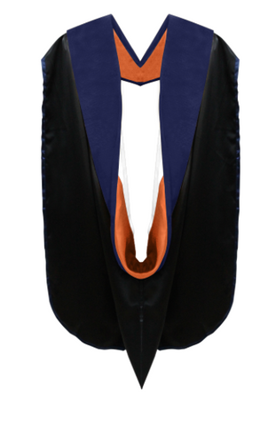 IN-STOCK GRADUATION DOCTORAL HOOD - ROYAL BLUE VELVET