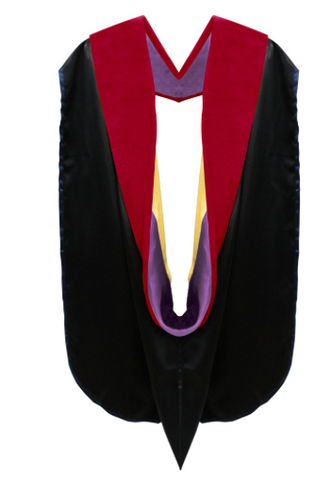 IN-STOCK GRADUATION DOCTORAL HOOD - RED VELVET