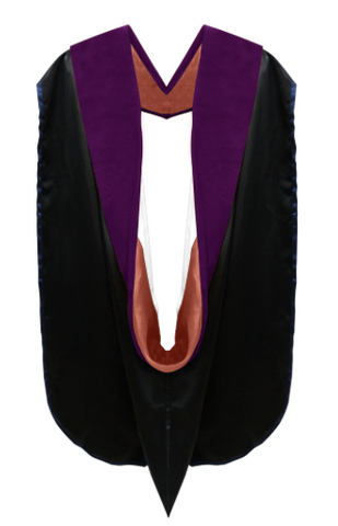 IN-STOCK GRADUATION DOCTORAL HOOD - PURPLE VELVET
