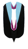 IN-STOCK GRADUATION DOCTORAL HOOD - LIGHT BLUE VELVET - Graduation Cap and Gown