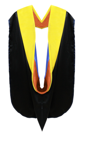IN-STOCK GRADUATION DOCTORAL HOOD - LEMON VELVET - Graduation Cap and Gown