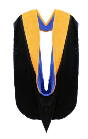 IN-STOCK GRADUATION DOCTORAL HOOD - SCIENCE GOLD VELVET