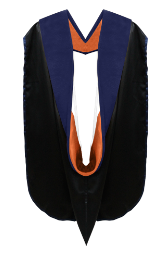 IN-STOCK GRADUATION DOCTORAL HOOD - DARK BLUE VELVET