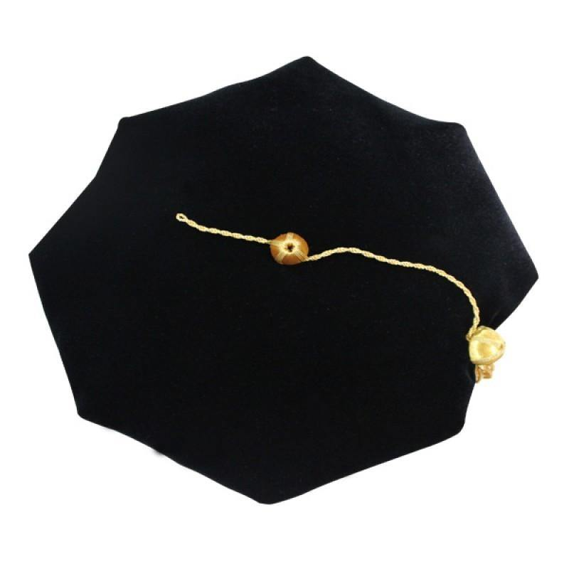 8 Sided Doctoral Tam -Graduation Faculty Regalia