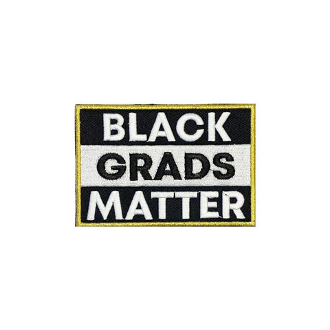 Antique Gold BLACK GRADS MATTER Graduation Stole - Graduation Attire