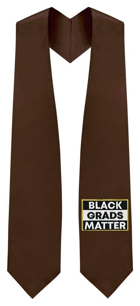 Brown BLACK GRADS MATTER Graduation Stole - Graduation Attire