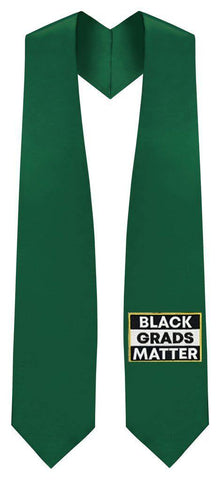 Hunter BLACK GRADS MATTER Graduation Stole - Graduation Attire