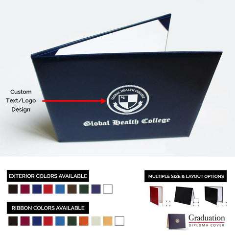 Custom Graduation Diploma Cover - Smooth Leatherette - Graduation Attire