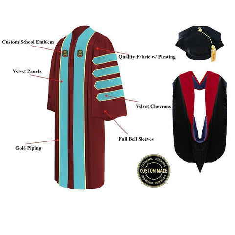 Custom Faculty Graduation Tam, Gown and Hood Package - Doctorate Regalia