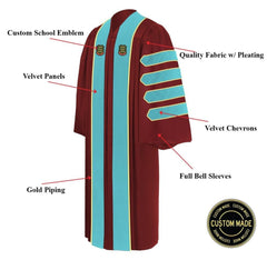 Custom Doctoral Graduation Gown - Doctorate Regalia - Graduation Attire