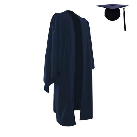 Classic Navy Bachelors Graduation Cap & Gown - Graduation UK