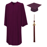 Matte Bachelors Cap, Gown, Tassel, Honor Cord, Diploma Cover Package