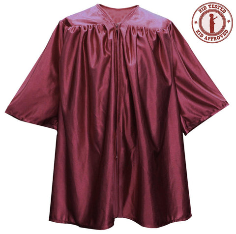 Childs Maroon Graduation Gown - Preschool & Kindgergarten Gowns